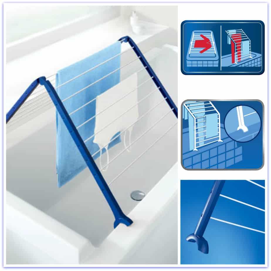 Compact Bathtub Drying Rack Laundry Shoppe