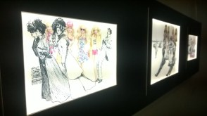 Collection of 2 handmade lightboxes satirising the view of 'modern women'