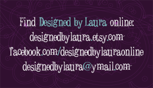 Designed by Laura business card back