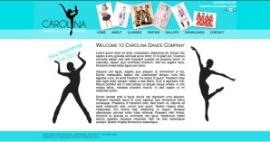 Carolina Dance Company homepage concept