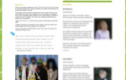 Screenshot of a design firm website using Comic Sans.