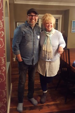 Meeting Bart Millard from Mercy Me in our home.