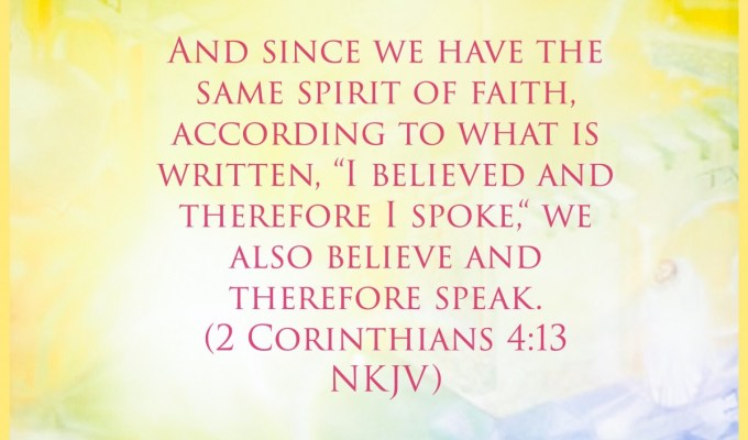 He Is The Spirit Of Faith