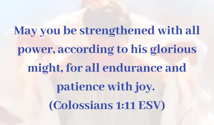 May You Be Strengthened With All Power