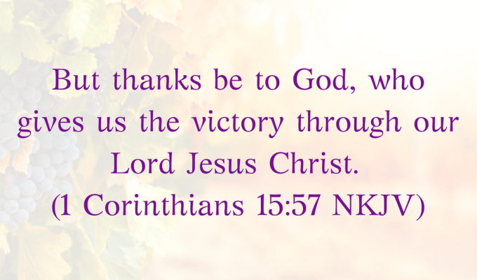 God Gives Us The Victory