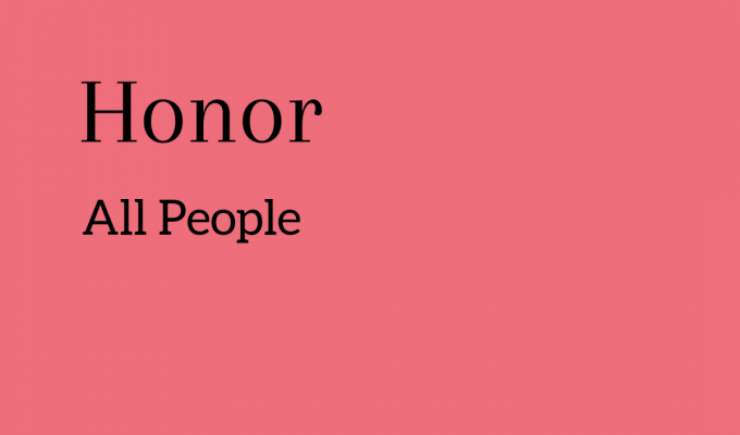 Honor All People