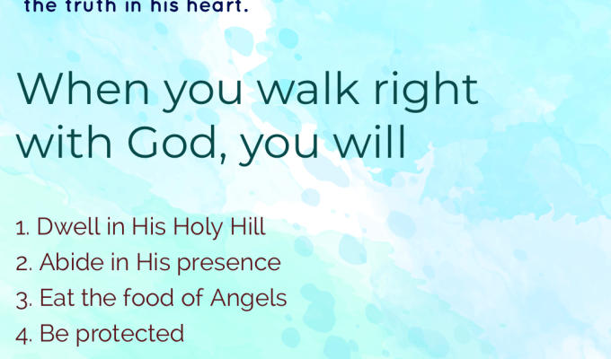 Walk Right With God
