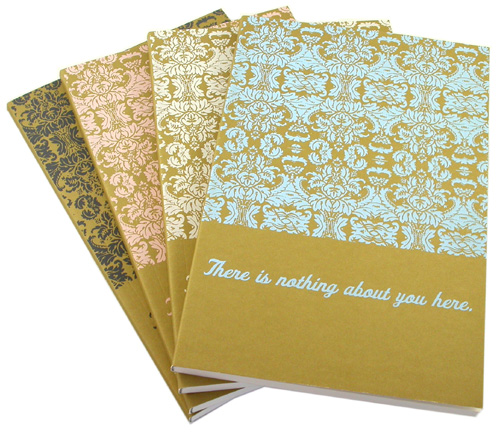 Hand screenprinted journals by Laura Bucci