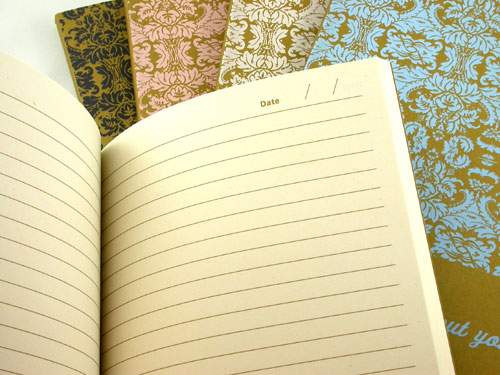 Laura Bucci hand screenprinted journals
