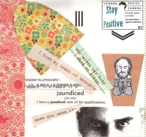 Mail art card collaboration