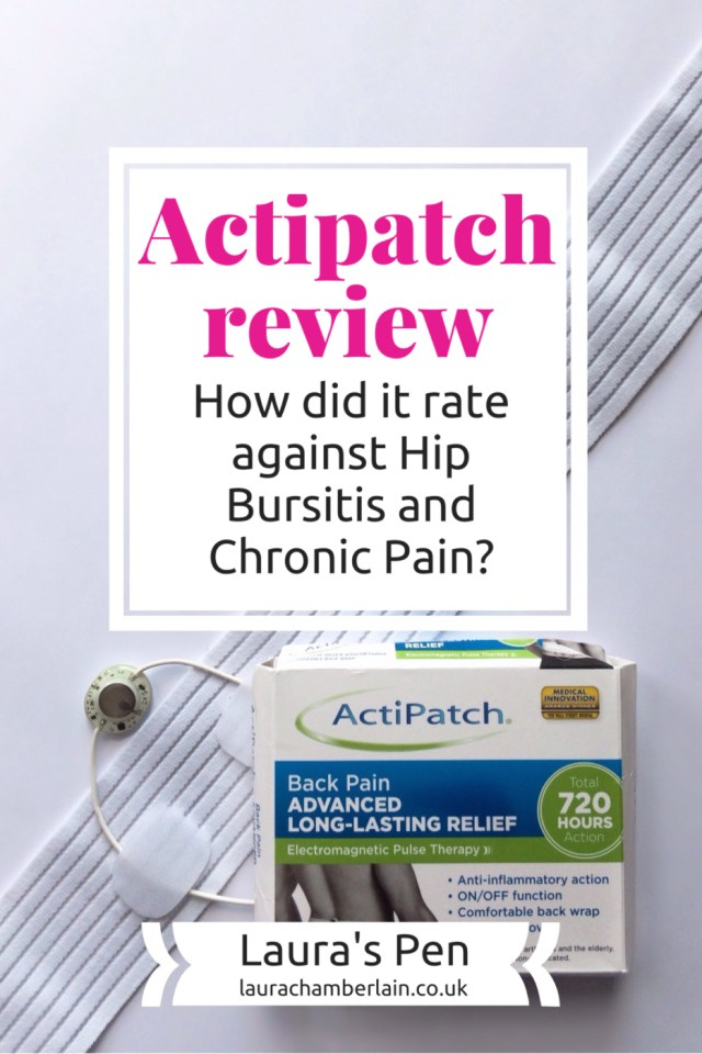 Actipatch review: how did it rate for Hip Bursitis and Chronic Pain/Fibromyalgia