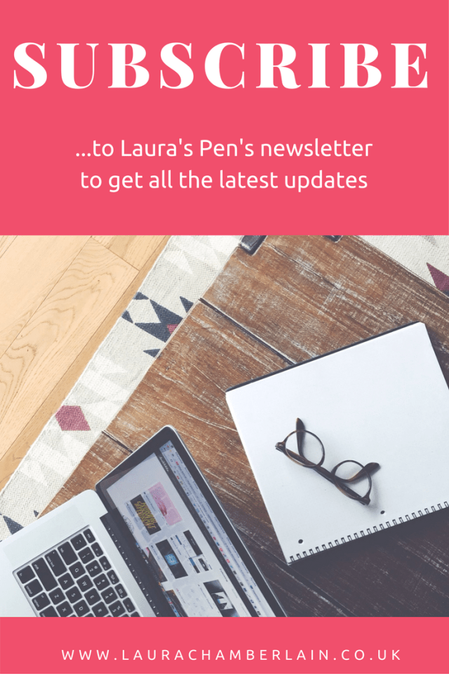 Subscribe to the Laura's Pen newsletter