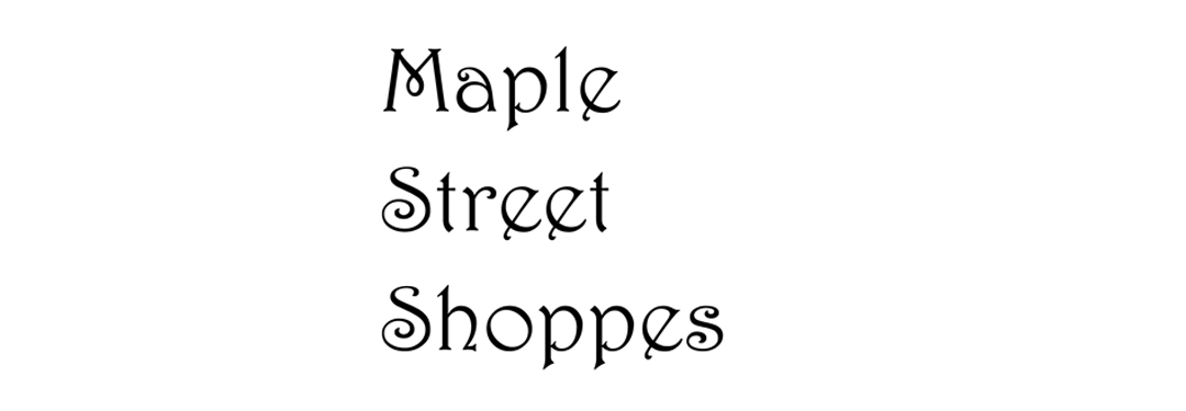 Pattern for Maple Street Gas Station or Theater