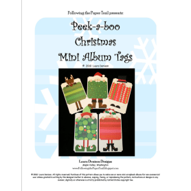 peekaboo christmas tags pattern cover