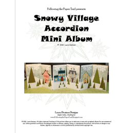 snowy village accordian album pattern cover