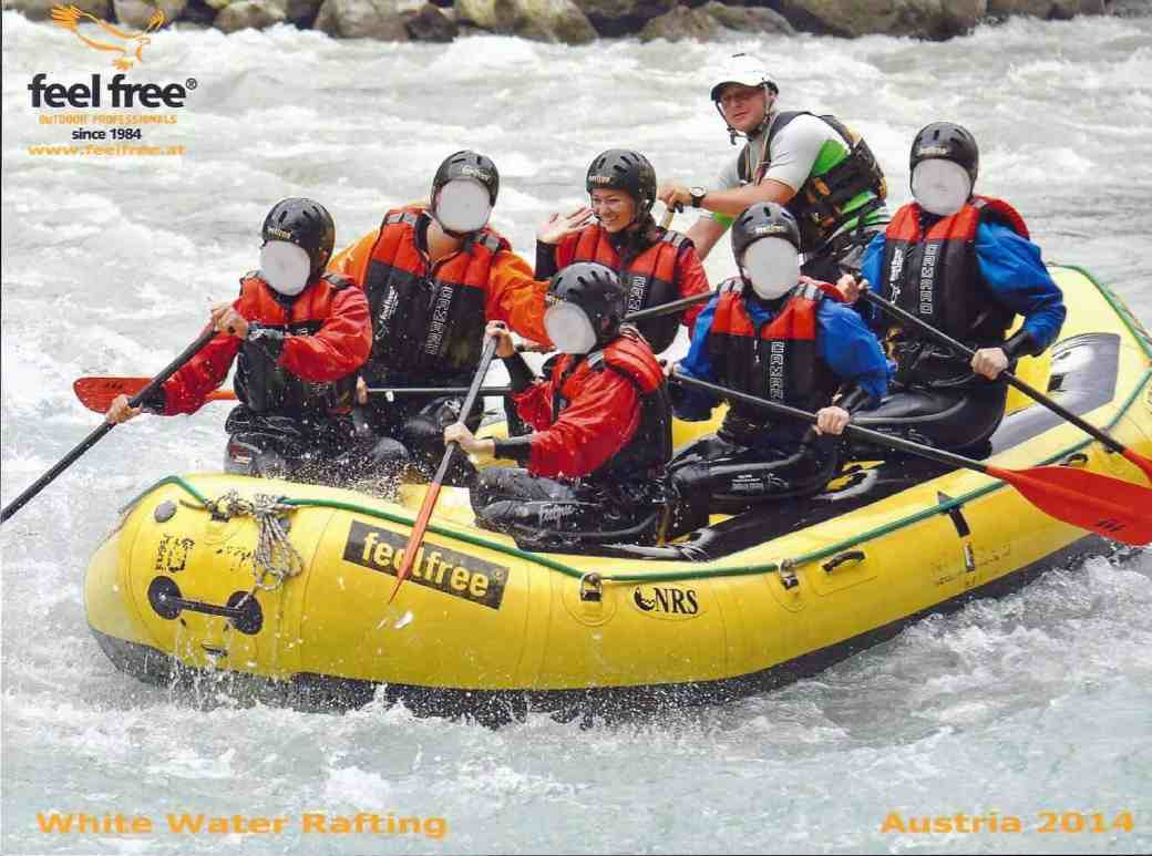 White Water Rafting on the Ötztaler Ache River