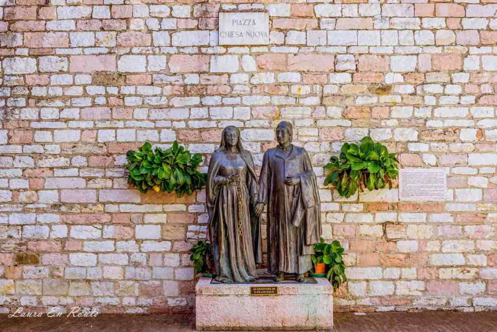 Saint Francis' parents, Pietro and Pica of Bernardone, Assisi - www.lauraenroute.com
