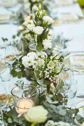 Table floral at a destination wedding