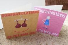 Boob job cards