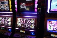 Slot machines in Vegas