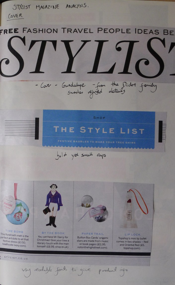 Stylist front cover and main body