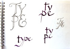 Quite like the top left one but will experiment with letter placement