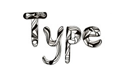 initially liked this idea but its really the pattern that makes it rather than the letter shape