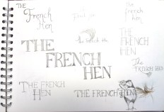 Lettering ideas - hen image/ updated? Not sure I want to go down this route