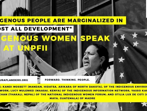 """Indigenous people are marginalized in almost all development"" - Indigenous Women Leaders at UNPFII"