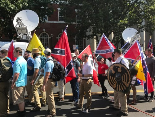 Nazi demonstrators at Unite The Right rally
