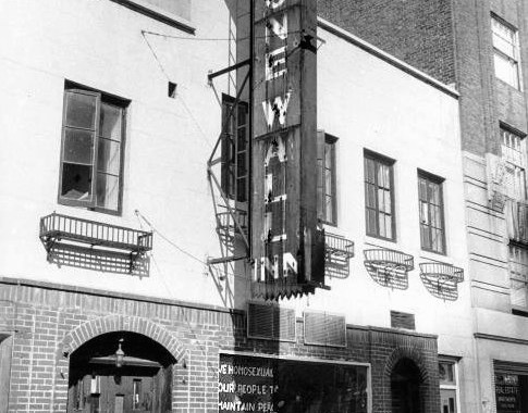 Stonewall Inn during the battle for LGBT rights