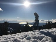 At the top of Hollyburn Mountain