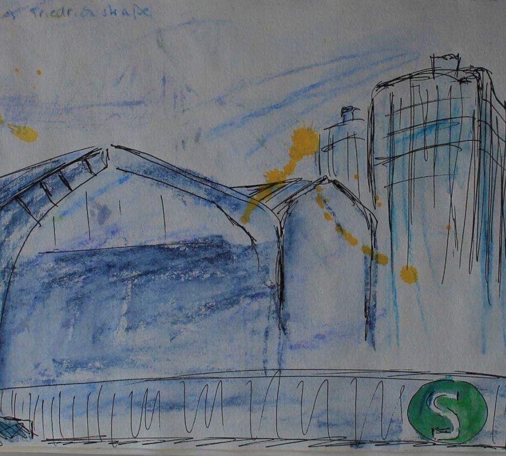 urban sketching Berlin