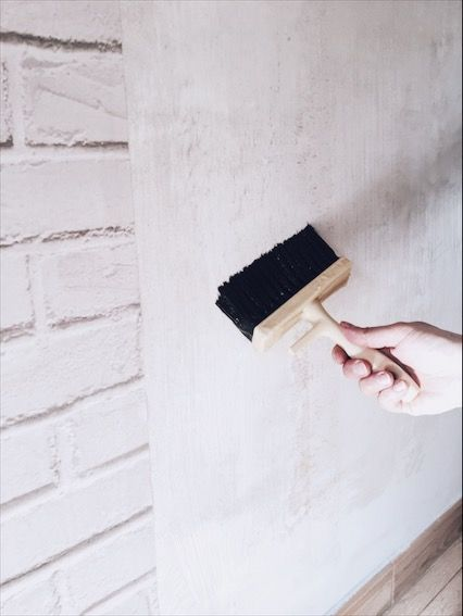 como poner una pared con efecto ladrillo