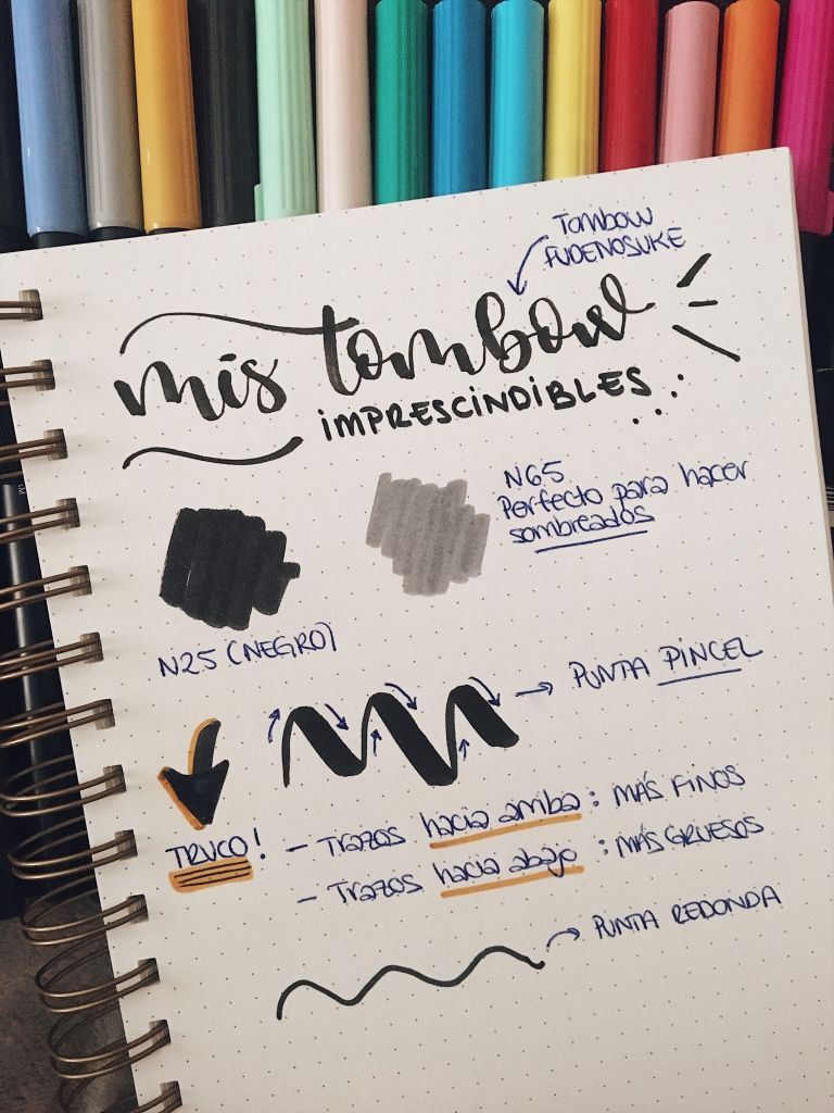 rotuladores tombow para hacer lettering
