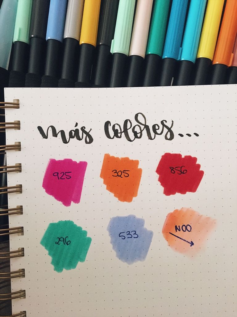 Rotuladores tombow para lettering