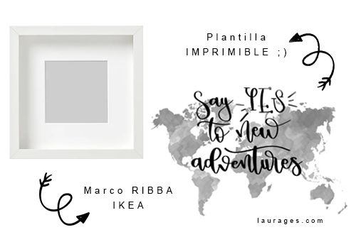 materiales ikea hack marco ribba