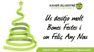 Tarjeta Navideña Xavier Silvestre Teràpies Naturals