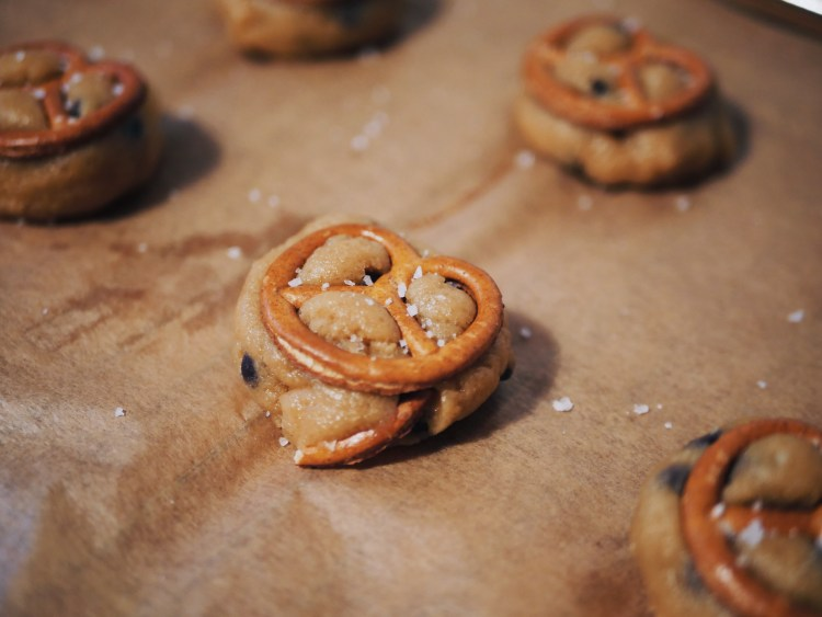 Chocolate Chip Cookies with Pretzel, Macadamia and Sea Salt