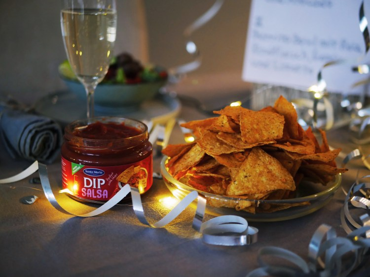 New Years Eve Dinner with Santa Maria Nachos