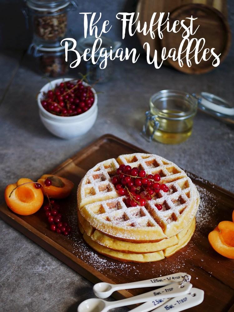 The Fluffiest Belgian Waffles