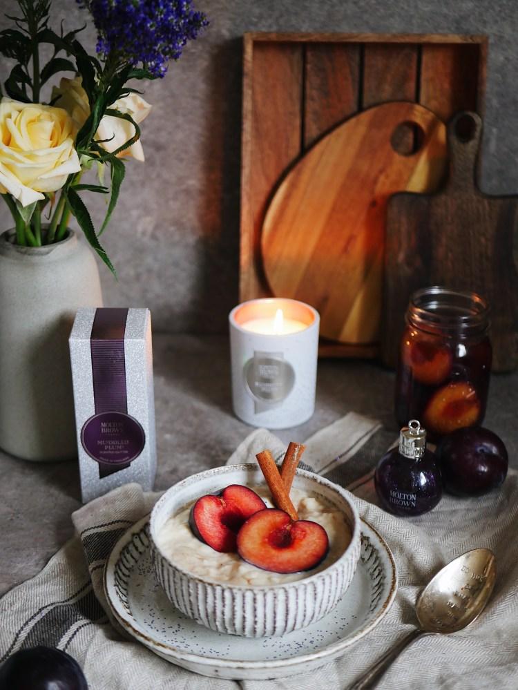 Winterrezept Milchreis mit eingekochten Zimt-Pflaumen