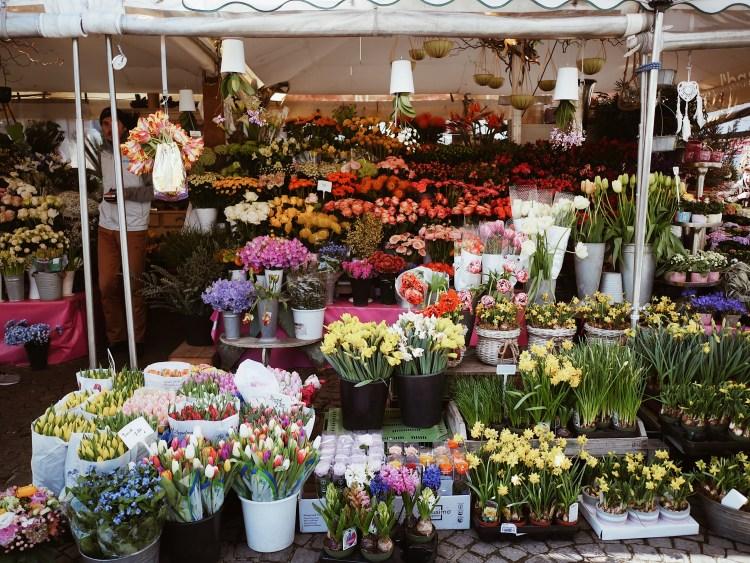 Erikas Blumenstandl Viktualienmarkt Muenchen