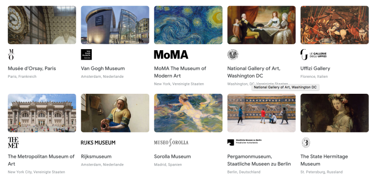 Digitaler Museumsrundgang Social Distancing