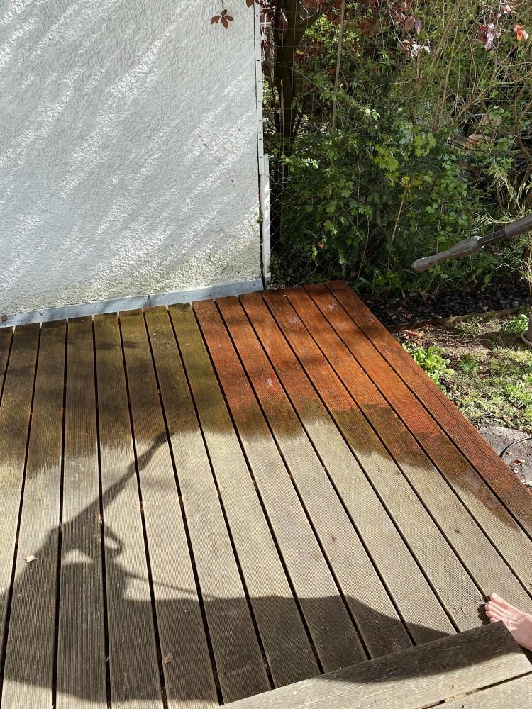 Terrasse mit dem Kaercher reinigen