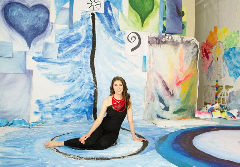 Laüra Hollick in her Soul Art Studio