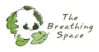 Logo for life coaching company 'the Breathing Space'. Using a swirl of leaves by Laura Elliott at Drawesome Illustration, Bristol. Illustration, Design, Whimsy