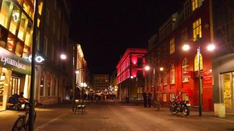 Reykjavik bei Nacht