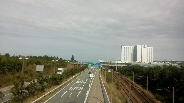 Die Brücke nach Malmö. Es sind nur 12 Kilometer, aber Fahrräder sind nicht erlaubt... :(