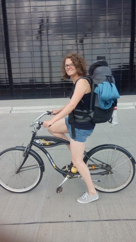 Yeah, das war mein Cruiser-Bike für 2 Tage! Cool, nicht wahr! Und sogar 3-Gang-Nabenschaltung!